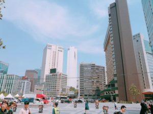 韓国オフィス街